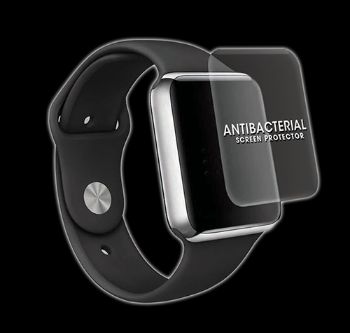 Salkin Antibacterial Tempered Glass Screen Shield for Smart Watches - Salkin