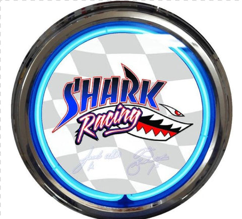 Shark Racing Clock