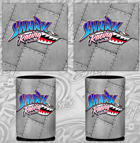 Shark Racing Can Coozie