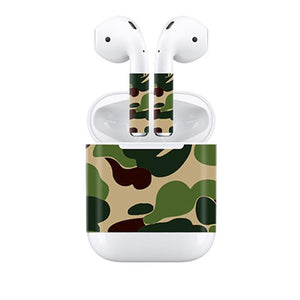 d7202a45369 Camouflage/Carbon pure color Customizable Design for Apple Airpods Skin  Stickers Earphone Decal