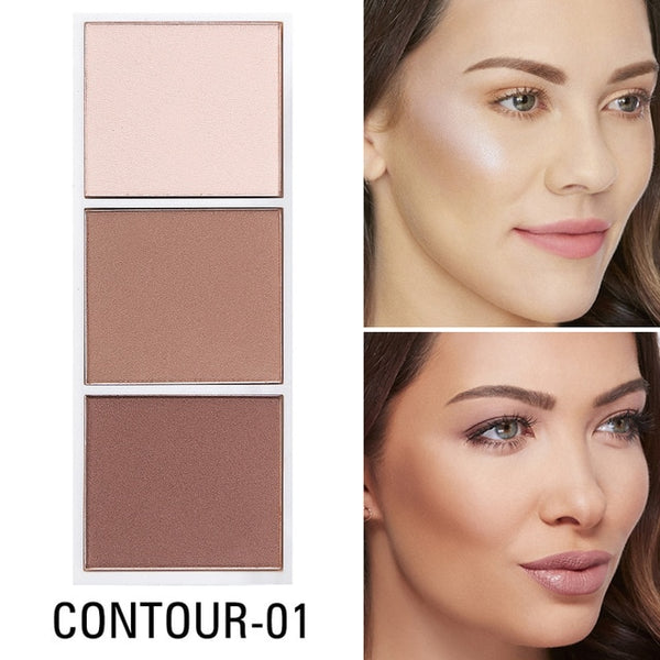 Colors Highlighter Palette Makeup Face Contour Powder