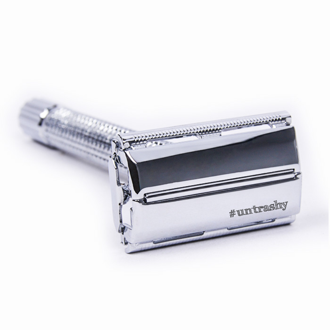 silver butterfly safety razor double edge