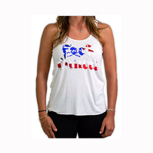Load image into Gallery viewer, American Flag Racerback Tank