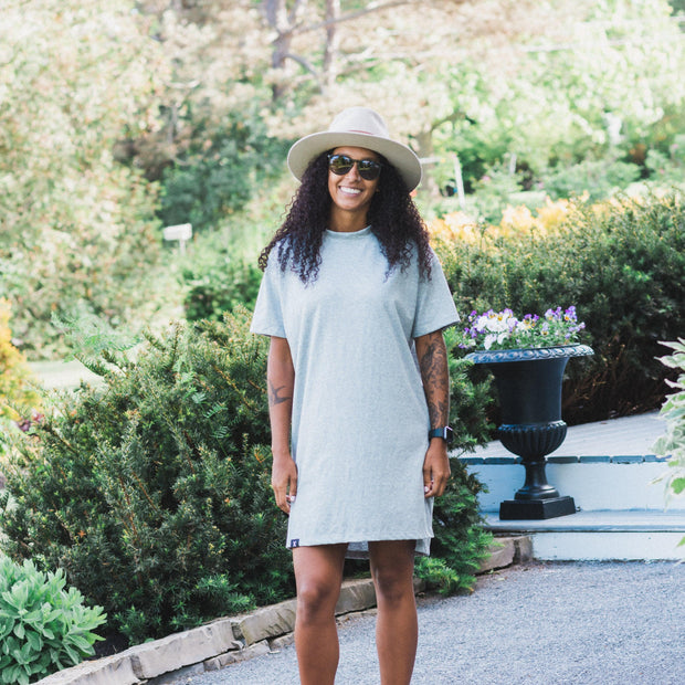 Oversized T-Shirt Dress in Grey Mix