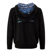 BOYS BLACK 'CREATE FASHION PRINT' HOODIE  WITH BACK PRINT AND DETAILED LINING - houseofjrs