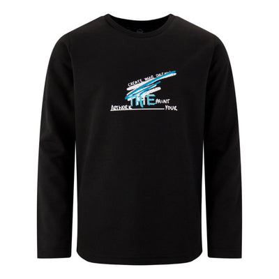 BOYS BLACK LONG SLEEVED 'CREATIVE ART' TOP - houseofjrs