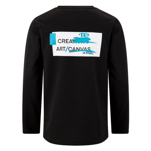 BOYS BLACK LONG SLEEVED 'CREATIVE ART' TOP freeshipping - HOJ