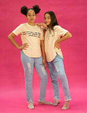 CREAM AND PINK TSHIRT - houseofjrs