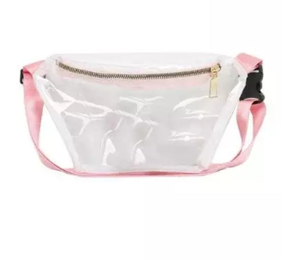 GIRLS TRANSPARENT CASUAL CROSSBODY/WAIST BAG freeshipping - HOJ
