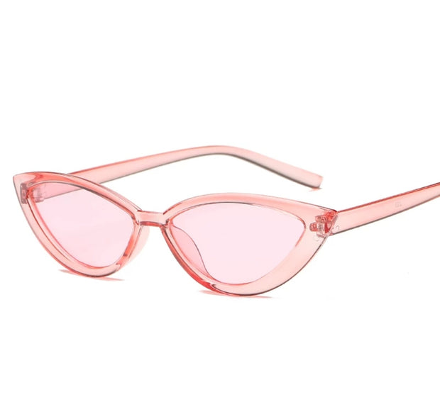 HOJ TRANSPARENT CAT EYE SUNGLASSES UV400 freeshipping - HOJ