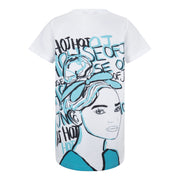GIRLS HOJ BLUE FACE OVERSIZED T-SHIRT DRESS - houseofjrs