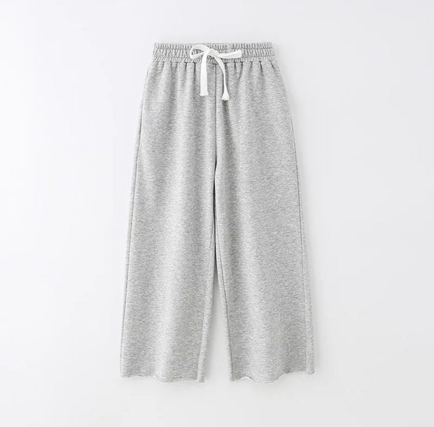 HOJ KIDS WIDE LEG COTTON CASUAL FIT PANTS LOOSE FIT  LIGHT WEIGHT SWEAT PANT freeshipping - HOJ