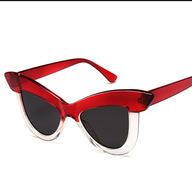 RED CAT EYE SUNGLASSES - HOJ