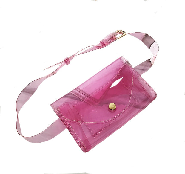 TRANSPARENT WAIST/SHOULDER BELT BAG freeshipping - HOJ