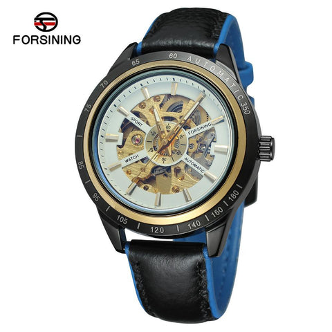 Carve Blue-glass Mechanical Watch