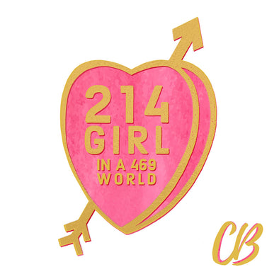 214 Girl Candy Conversation Hearts Art Print