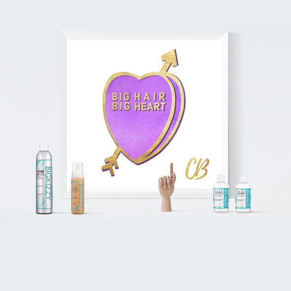 """Big Hair Big Heart"" Candy Conversation Hearts Art Print"