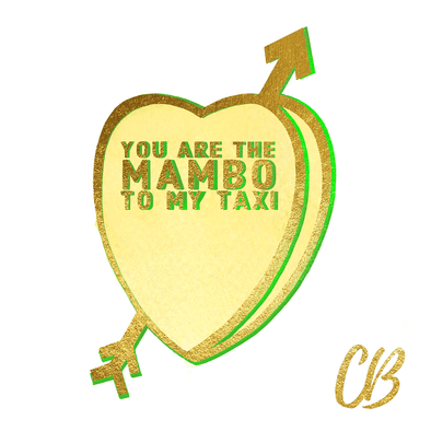 """Mambo"" Candy Conversation Hearts Art Print"