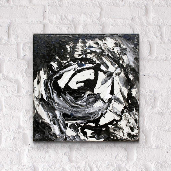 "Art Block - Black & White"" Original 13.5"" x 13.5"""