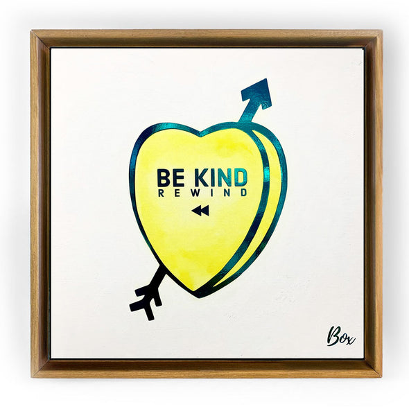 "Be Kind Rewind Original Candy Conversation Hearts Acrylic 20""x 20"""