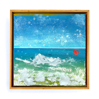 "Beach Heart #1 - The Little Heart Series Original Acrylic 12""x12"""