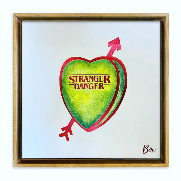 "Stranger Danger Original Candy Conversation Hearts Acrylic 20""x 20"""