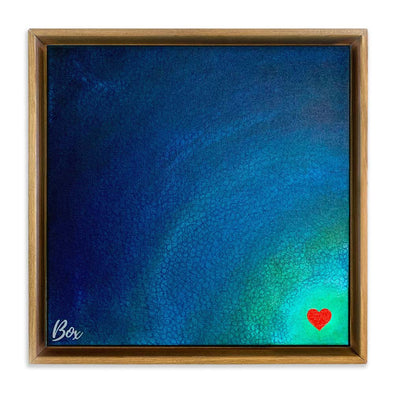 "Deep Heart The Day You Left The Little Heart Series Original Acrylic 12""x12"""