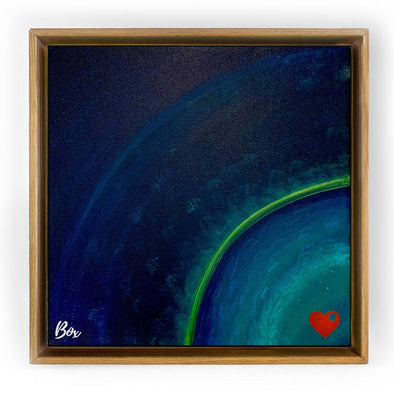 """Earth Heart 5"" Original Acrylic 12""x12"""