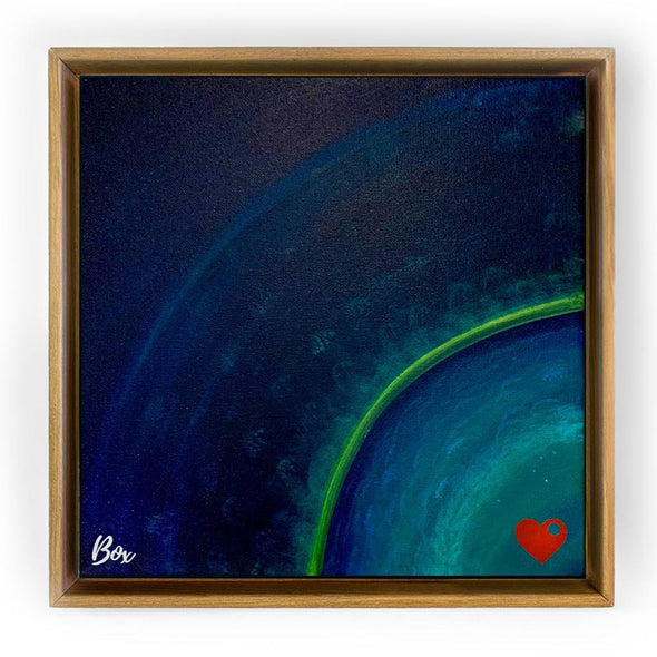 "Earth Heart #5 - The Little Heart Series Original Acrylic 12""x12"""