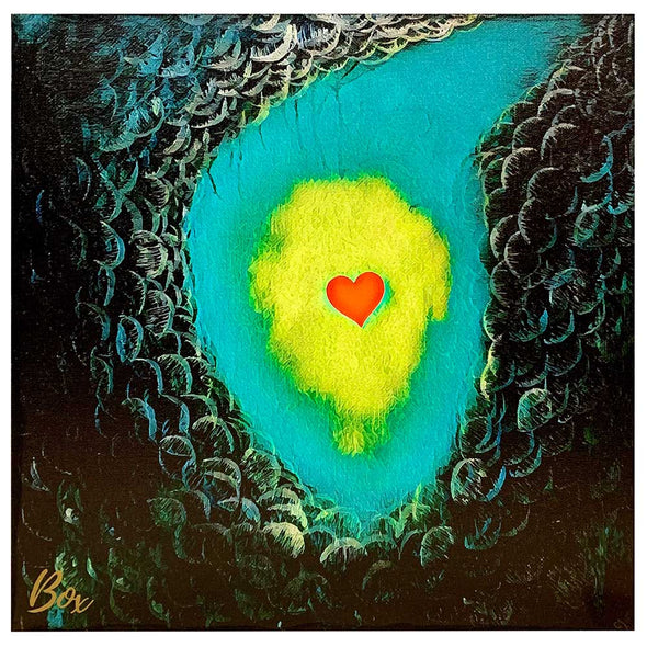 "Enlightenment - The Little Heart Series Canvas Panel Print 12""x12"""