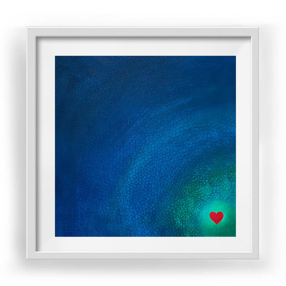 "Little Heart 2 Art Print White Frame 12"" x 12"""