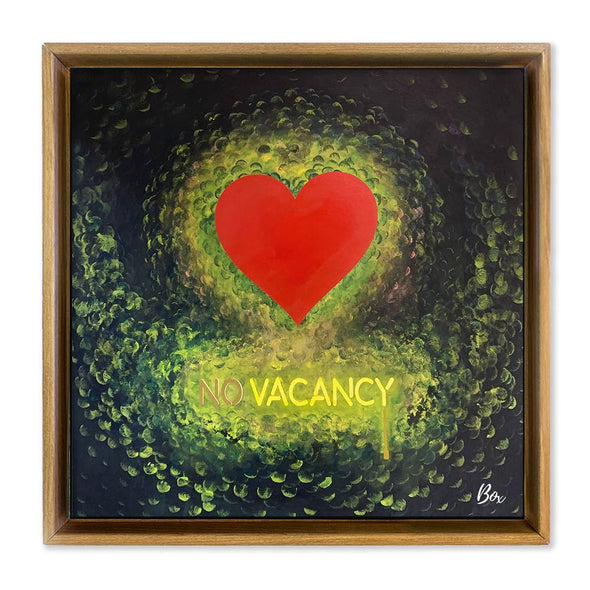 "No Vacancy Heart #1 - The Little Heart Series Original Acrylic 30"" x 30"""
