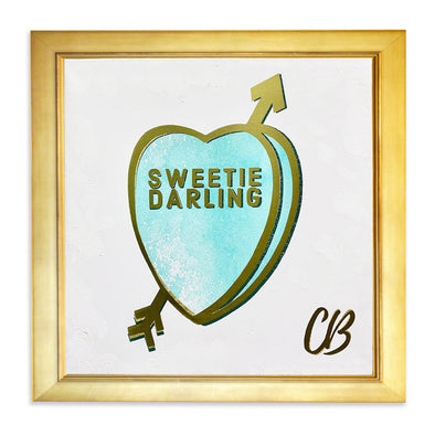 "Sweetie Darling #2 Original Candy Conversation Hearts Acrylic 20""x 20"""