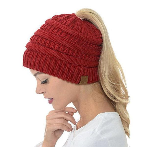 Extra Warm Ponytail Beanie Hat - Best Seller - Black Friday Special - Deal Ends Soon