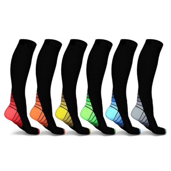 Unisex Sports Compression Socks (6-Pack) - Best Seller - Black Friday Special - Deal Ends Soon