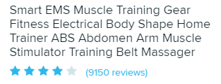 Reviews for electric muscle training for abs