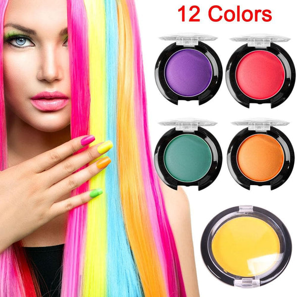 12 Colors Non-toxic Unisex DIY Hair Color Wax Hair Color