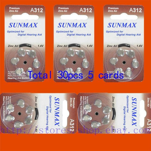 30 x Hearing Aid Batteries A312 312A ZA312 312 PR41 U Hearing Aid Batteries