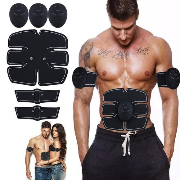 Smart EMS Muscle Training Gear Fitness Electrical Body Shape Home Trainer ABS Abdomen Arm Muscle Stimulator Training Belt Massager - briskeys-deals