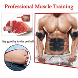 Smart EMS Muscle Training Gear Fitness Electrical Body Shape Home Trainer ABS Abdomen Arm Muscle Stimulator Training Belt Massager Muscle Training