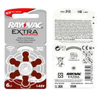 New 60 pcs/10card Rayovac Extra 1.45V Performance Hearing Aid Batteries. Zinc Air 312/A312/PR41 Battery for CIC Hearing aids
