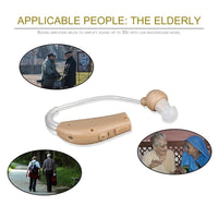 New Rechargeable ear hearing aid mini device ear amplifier digital hearing aids behind the ear for deaf elderly acustico EU plug