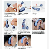 Rechargeable Mini Digital Hearing Aid Severe Hearing Loss - briskeys-deals