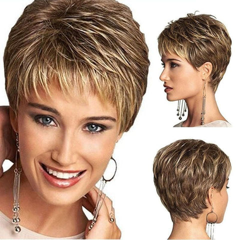 Beautiful Wig Blonde Short Synthetic Lace Wigs