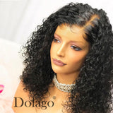Curly Short Bob Wigs Lace Front Remy Human Hair
