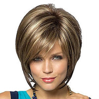 Beautiful Sexy Mature Synthetic Hair Wig Pixie Style with Bangs Wigs