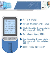 Lipid Analyzer 4in1 cholesterol HDL triglyceride TG meter TC HDL