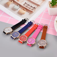 Women's casual luxury leather rhinestone watch Watches for women, Womens Watches
