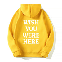 ASTROWORLD WISH YOU WERE HERE HOODIES fashion letter Man woman Pullover Sweatshirt