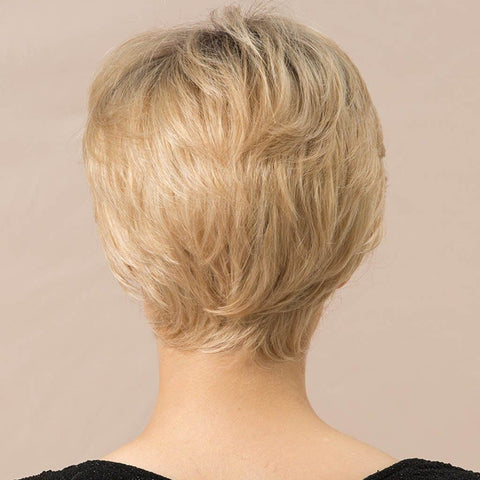 Short Human Hair Golden with Wig Cap - briskeys-deals